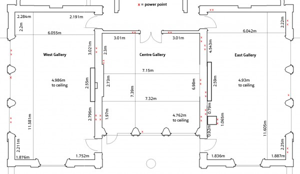 Plan of galleries