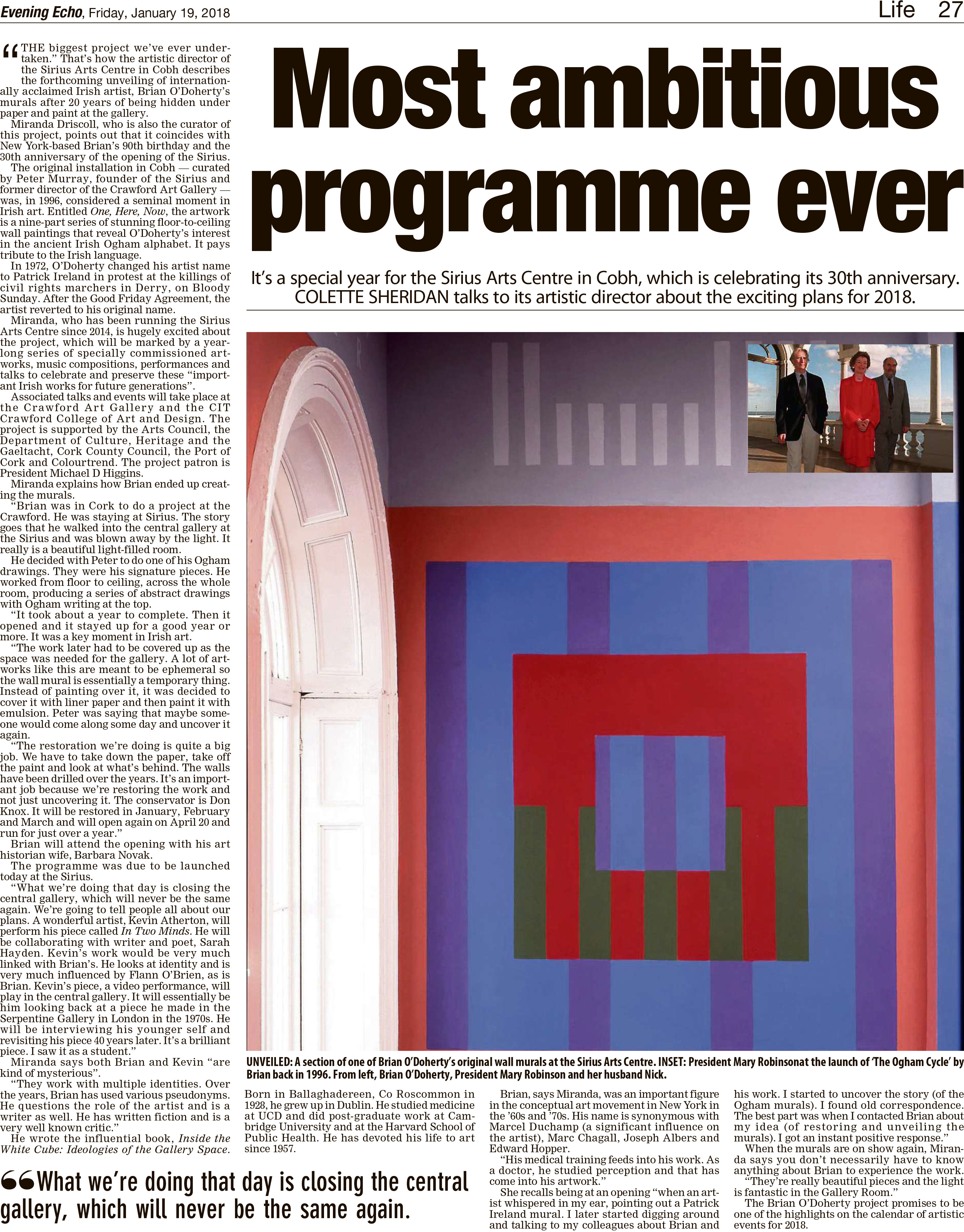 Most ambitious programme ever - Evening Echo